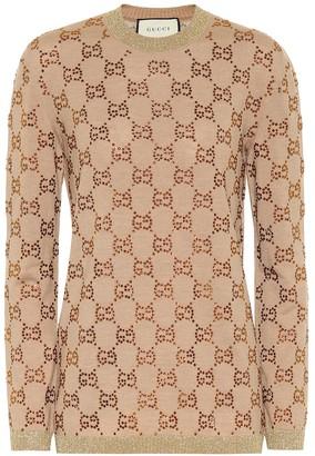 Gucci GG embellished wool sweater