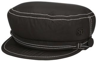 Maison Michel Soft New Abby topstitched nylon hat