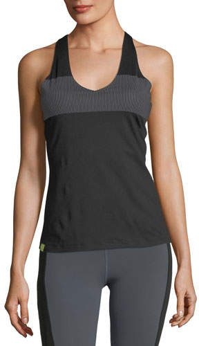 Monreal London Essential V-Neck Reflective Stripe Performance Tank