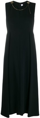 Victoria Beckham Chain Trim Midi Dress