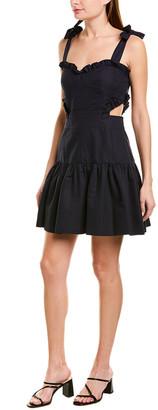 Rebecca Taylor Cutout Linen-Blend A-Line Dress
