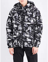 Moncler Ski-print Shell Down Jacket
