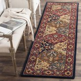 Safavieh Heritage Collection HG510A Handmade Multi and Navy Wool Runner, 2 feet 3 inches by 10 feet