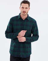 Rusty Leicester Long Sleeve Flannel Overshirt