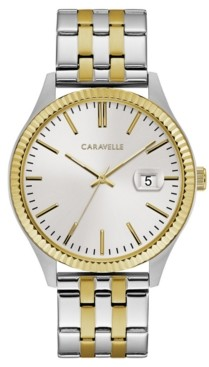 Caravelle Designed by Bulova Men's Two-Tone Stainless Steel Bracelet Watch 41mm