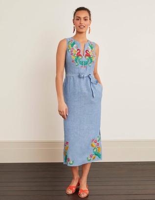 Cora Embroidered Midi Dress
