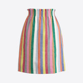 J.Crew Factory Mixed-stripe linen-cotton sidewalk mini skirt