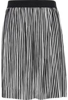 River Island Girls black and white stripe plisse skirt