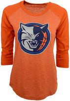 Majestic Women's Three-Quarter-Sleeve Charlotte Bobcats Raglan T-Shirt