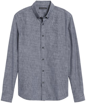 Banana Republic Untucked Slim-Fit Chambray Shirt