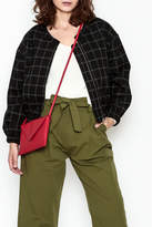 Line & Dot Plaid Bomber Jacket