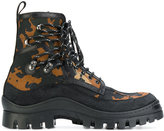 DSQUARED2 camouflage chunky boots