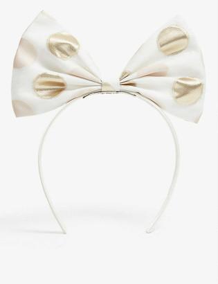 Hucklebones London Floral bow headband