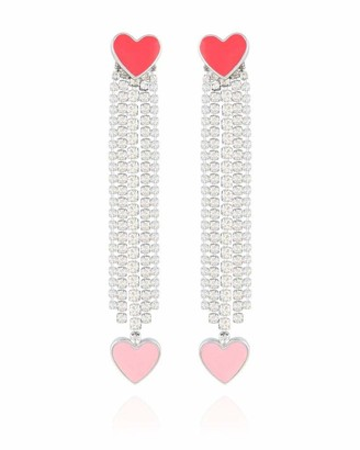 GUESS Heart Linear Earring With Stones