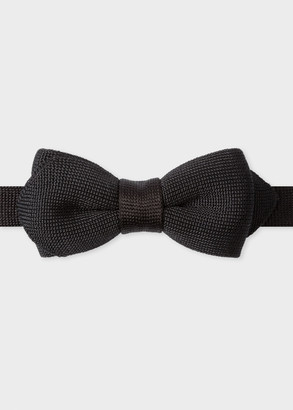 Paul Smith Men's Black Knitted Silk Bow Tie