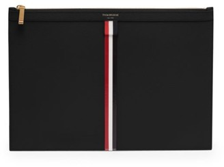 Thom Browne Small Zip Leather Tablet Holder