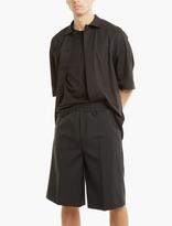 Acne Studios Black Wool-Blend Ryder Shorts