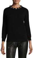 Carolina Herrera Women's Embroidery Cashmere Sweater