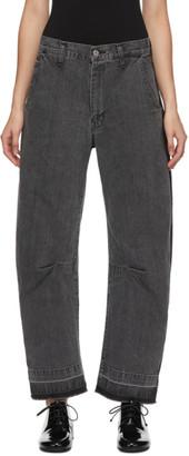 Y's Ys Black U-Gusset Wide Jeans