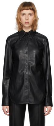 Stand Studio Black Faux-Leather Juliana Shirt