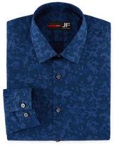 Jf J.Ferrar Long Sleeve Woven Pattern Dress Shirt - Slim