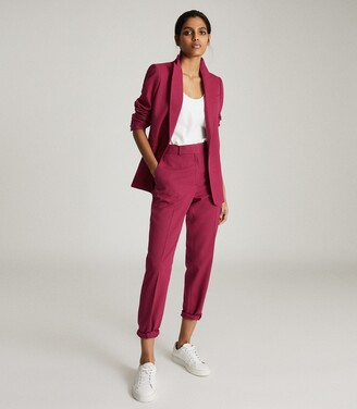 Reiss Miller - Slim Fit Tailored Trousers in Pink