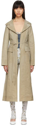 BEIGE Charlotte Knowles Psyche Trench Coat