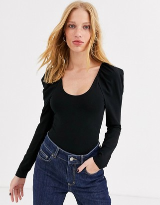 And other stories & puff sleeve body in black