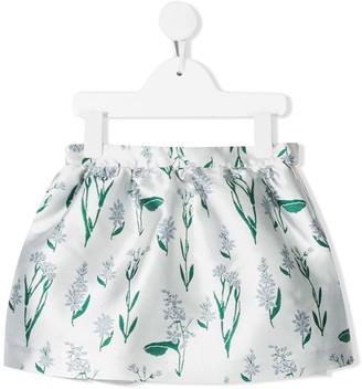Hucklebones London gathered flower-print skirt