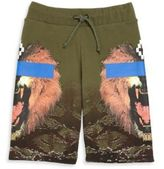 Marcelo Burlon County of Milan Boy's Lion Graphic Shorts