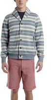 Woolrich Basshu Navy Stripe Cardigan