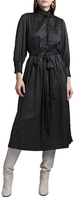 MARC JACOBS, RUNWAY Polka Dot Silk Satin Dress