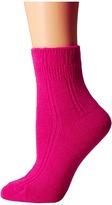 Kate Spade Mixed Rib w/ Bow Charm Home Sock 1-Pack Women's Crew Cut Socks Shoes