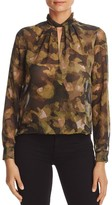 Kenneth Cole Printed Crossover Blouse
