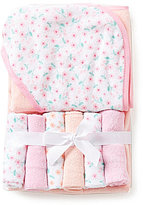Starting Out Floral Hooded Towel & Washcloths Set