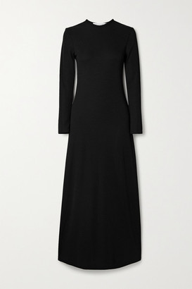 CHRISTOPHER ESBER Open-back Ribbed-knit Maxi Dress - Black