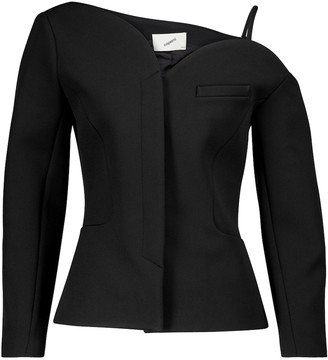 Coperni Heart off-shoulder cady jacket