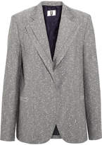 Topshop Layered Wool-blend Tweed Blazer - Gray