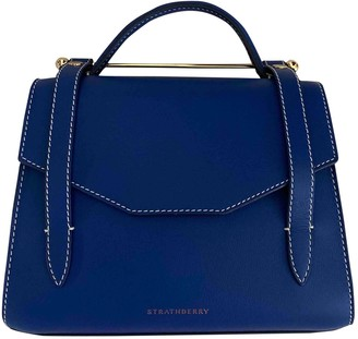 Strathberry Blue Leather Handbags