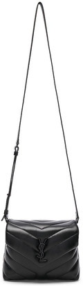 Saint Laurent Toy Supple Monogramme Loulou Strap Bag in Black & Black | FWRD