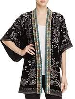 Johnny Was Okinowa Embroidered Velvet Kimono