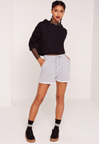 Missguided Turn Up Jogger Short Grey