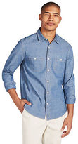 Aeropostale Mens Cape Juby Medium Wash Chambray Button Down Blue