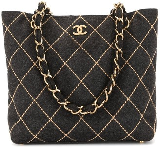Chanel Pre Owned 2004 Wild Stitch quilted tote bag