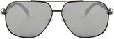 Alexander McQueen Skull-hinge aviator sunglasses