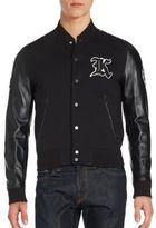 The Kooples Cotton-Blend Button Front Jacket