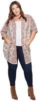 Lucky Brand Plus Size Diamond Pattern Cardigan Women's Sweater
