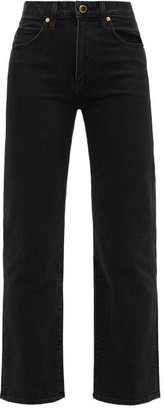 KHAITE Vivian Straight-leg Jeans - Womens - Black