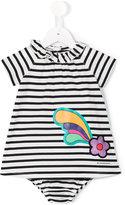 Burberry striped dress set - kids - Cotton - 9 mth