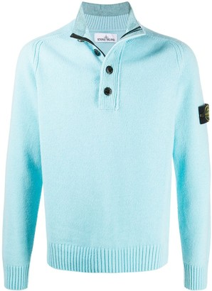 Stone Island Button Down Knitted Jumper